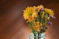 Beautiful flower in vase on table Royalty Free Stock Photography