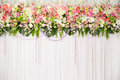 Beautiful flower wedding decoration background of Royalty Free Stock Image