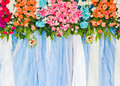Beautiful flower wedding decoration background in Stock Photos