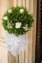 Beautiful flower wedding decoration church Royalty Free Stock Photo
