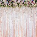 Beautiful flowers background for wedding scene Royalty Free Stock Photo
