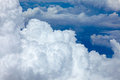 Beautiful fluffy clouds in blue sky cumulus background white Stock Image