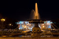 Beautiful fountain in the Kirov square Royalty Free Stock Photo