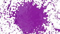 Beautiful fountain spray liquid like violet paint. 3d on white background with alpha channel use alpha mask. Top of a