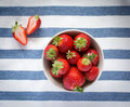 Beautiful fresh strawberries red juicy Stock Photo
