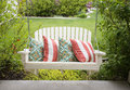 Beautiful front porch swing Royalty Free Stock Photo