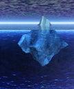 Beautiful Full Floating Iceberg in the Open Ocean Stock Photo