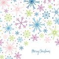 Beautiful and fun snowflake seamless pattern - hand drawn and colorful, great for invitations, banners, wallpapers - vector