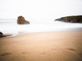 Beautiful galician beach i galicia spain in a cloudy day Royalty Free Stock Photos