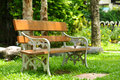 Beautiful garden chair in the garden Royalty Free Stock Photo