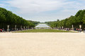 Beautiful Garden in a Famous Palace of Versailles Chateau de Versailles, France Royalty Free Stock Photo