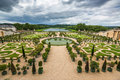 Beautiful garden in a Famous palace Versailles, France Royalty Free Stock Photo