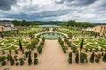 Beautiful garden in a famous palace versailles france paris Stock Photo