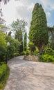 Beautiful garden with hedges pushkin park gruzuf crimea ukraine Stock Image