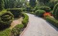 Beautiful garden with hedges pushkin park gruzuf crimea ukraine Royalty Free Stock Images