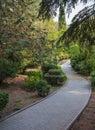 Beautiful garden with hedges pushkin park gruzuf crimea ukraine Royalty Free Stock Photos