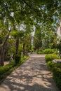 Beautiful garden with hedges pushkin park gruzuf crimea ukraine Stock Images