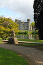 Beautiful garden and park of irish castle johnstown in wexford county ireland Stock Photography