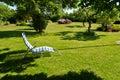 Beautiful garden seating relaxing armchair Royalty Free Stock Photo