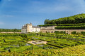 The beautiful gardens of the castle of Villandry, France Royalty Free Stock Photo