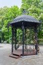 Beautiful gazebo made of forged metal. Donetsk Royalty Free Stock Photo