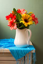Beautiful gerbera flower bouquet Royalty Free Stock Photo