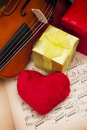 Beautiful gifts and violin! Stock Image