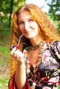 Beautiful ginger-haired girl Royalty Free Stock Photos