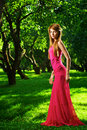 Beautiful girl in the apple garden Royalty Free Stock Photo