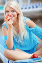 Beautiful girl at beach Royalty Free Stock Image