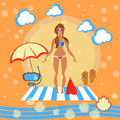 Beautiful girl on the beach Royalty Free Stock Photo