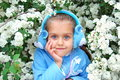 Beautiful girl with big blue eyes Royalty Free Stock Photo