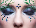 Beautiful girl with bodyart Royalty Free Stock Photo
