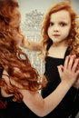 Beautiful Girl Child Ghost Reflection Royalty Free Stock Photos