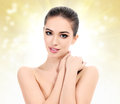 Beautiful girl with clean fresh skin Royalty Free Stock Photography