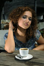 Beautiful girl with coffee Royalty Free Stock Photo