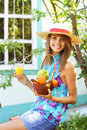 Beautiful girl in the country Royalty Free Stock Photo