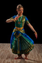 Beautiful girl dancer of bharatanatyam young woman exponent indian classical dance Stock Image
