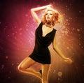 Beautiful Girl Dancer  In Blac...