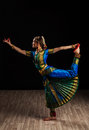 Beautiful girl dancer of indian classical dance bharatanatyam young woman exponent Royalty Free Stock Image