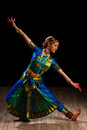 Beautiful girl dancer of indian classical dance bharatanatyam young woman exponent Royalty Free Stock Images