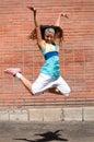 Beautiful girl dancing hip-hop Royalty Free Stock Photo