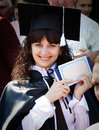 Beautiful girl with a diploma graduate Stock Photos