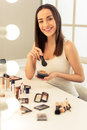 Beautiful girl doing makeup Royalty Free Stock Photo