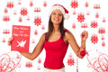 Beautiful girl dressed like Santa Royalty Free Stock Photography