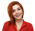 Beautiful girl feels affection redhead Royalty Free Stock Image