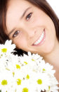 Beautiful girl with flowers Royalty Free Stock Photo