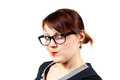 Beautiful girl in glasses Royalty Free Stock Image