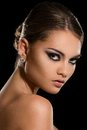 Beautiful girl with gorgeous face beauty cute attractive woman Royalty Free Stock Image