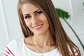 Beautiful girl with gorgeous face cute attractive woman Royalty Free Stock Images
